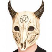 Heltäckande Rams Dödskalle Latexmask