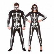 Jumpsuit Skelett Maskeraddräkt - X-Small