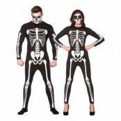 Jumpsuit Skelett Maskeraddräkt