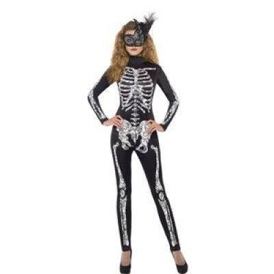 Skelett - maskeraddräkt tight