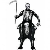 Skelett Piggyback Rideon Dräkt