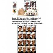 Bald Cap Kit med Instruktioner Graftobian Komplett Sminkset