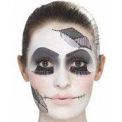 Ghastly Doll Face Sminkset med Flash Tattoo