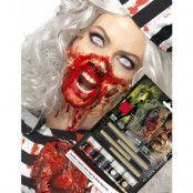 Horror Zombie Sminkset med Flytande Latex 4x 29,5 ml med 4 stk Borstar UTAN AMMONIAK