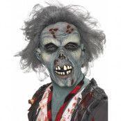 Rutten Zombie - Heltäckande Latexmask med Hår