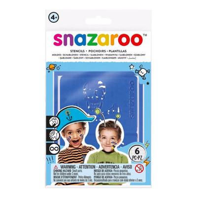 Snazaroo Sminkstenciler - Pirate/Tiger