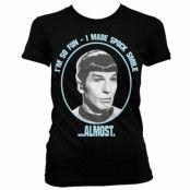 Star Trek I Made Spock Smile Girly T-Shirt