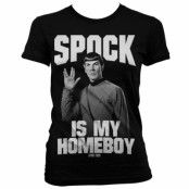 Star Trek Spock Is My Homeboy Girly T-Shirt