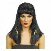 Cleopatra Peruk med Flätor - One size