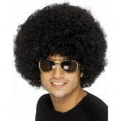 Funky 80's Disco - Svart Afroperuk