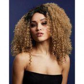 Lizzo Deluxe Wig - Kan Stylas! - Karamellblond Afro Peruk