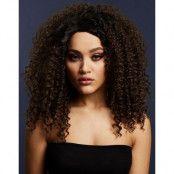 Lizzo Deluxe Wig - Kan Stylas! - Mörk Brun Afro Peruk