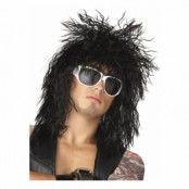 Rockin' Dude Svart Peruk - One size