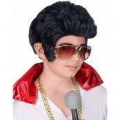 Svart Elvis Inspirerad Peruk till Barn