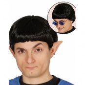 Svart Spock / Star Trek Inspirerad Peruk