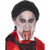 Dracula/Vampyr-Peruk i Svart med Vita Ränder
