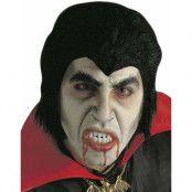 Svart Dracula Peruk & Löständer
