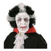 Vampyrmask med Peruk - One size