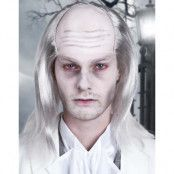 Zombie/Vampyrperuk med flint och långt grått hår