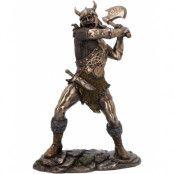 Vikingen Går Bärsärk - Bronsfärgad Figur 28 cm