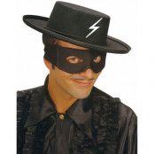 Svart Zorro Hatt
